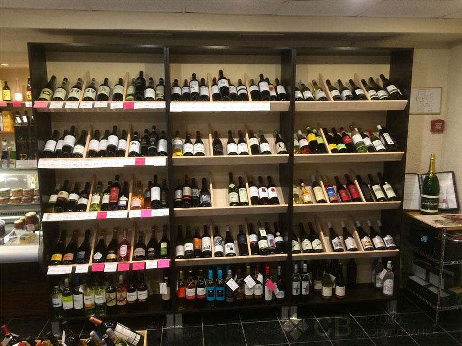 Торговые стеллажи с алкоголем